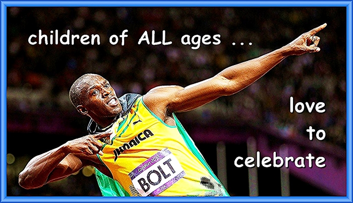 Children of ALL ages love to celebrate.