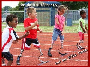 We do it differently. But we WILL finish.